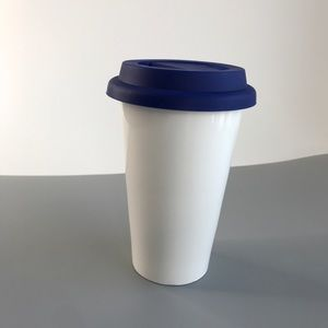 NEW Ceramic Double Insulated Mug with Lid